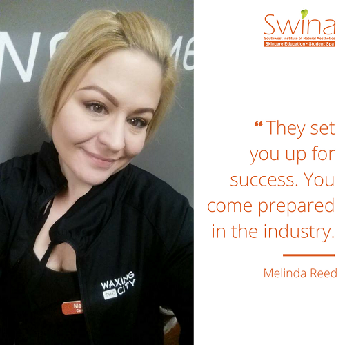 success waxing the city swina great graduates Melinda reed quote.png